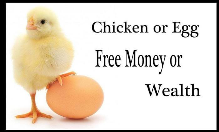 Free money and wealth creation are mutually exclusive